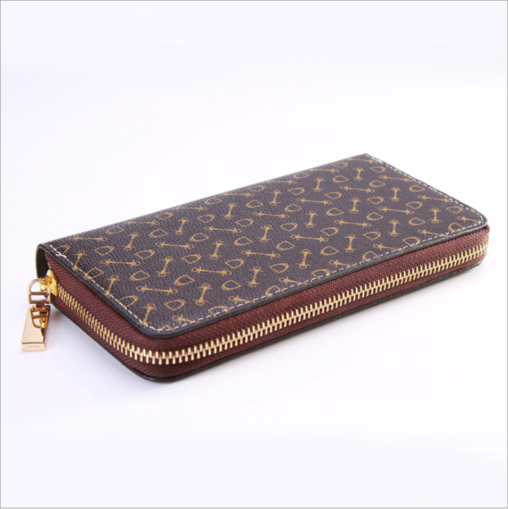 Men's And Women's Long Wallet Zipper Large Capacity Wallet High Quality Fashion Wallet New Mobile Wallet Credit Card Bag Lady