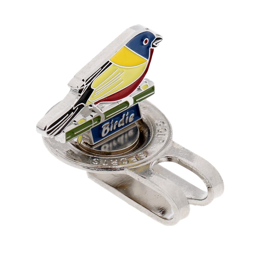 Lovely Bird Design Magnetic Cap Hat Visor Clip-on Golf Ball Marker Golf Accessory Gift For Golfer
