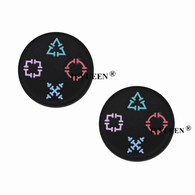 IVYUEEN 2 pcs Cat / Skull Print Silicone Joystick Thumbsticks Grip Caps for Dualshock 4 PS4 Pro Slim Controller for XBox One X S 5