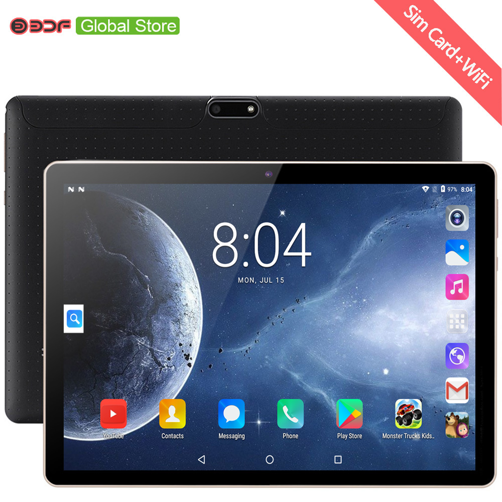 New 10 Inch Tablet Pc Google Play Android 7.0 Quad Core 3G Phone Call CE Brand Tablets WiFi Bluetooth GPS Android 10.1 Inch Tab
