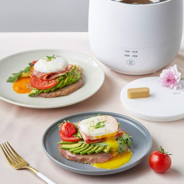220V Electric Egg Cooker Household Breakfast Maker Multi Egg Custard/Hotspring Egg/Poached Egg/Boiled Egg Steaming Cooker 6