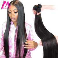 brazilian hair extension bundles 8 to 30 40 inch human hair bundles non-remy natural straight short long hair weave 1 3 4 pieces