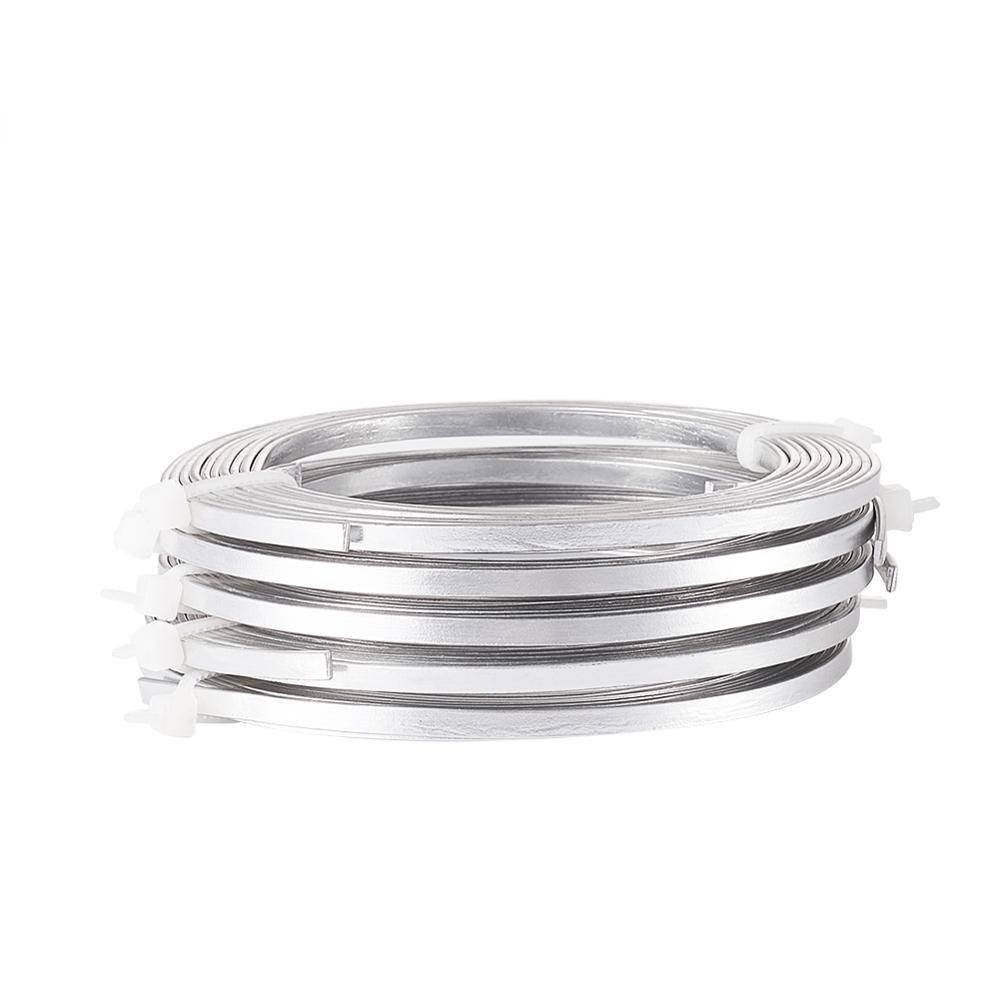 Aluminio 5mm Colores a Elegir Flat Wire Aluminium Rollo Alambre Plano 3 Metros