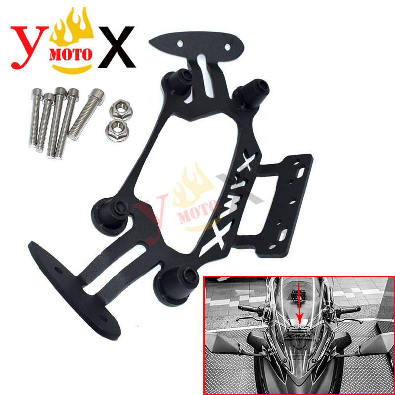 <font><b>XMAX</b></font> 250 <font><b>300</b></font> Motorcycle <font><b>Phone</b></font> GPS Navigation Rearview Mirror Bracket <font><b>Holder</b></font> Stander Support For Yamaha XMAX250 XMAX300 2017-2018 image