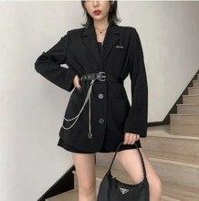 Automne noir gothique costume veste à manches longues sexy mini robe coréenne harajuku vintage robes pour les femmes punk cosplay colthes 2020