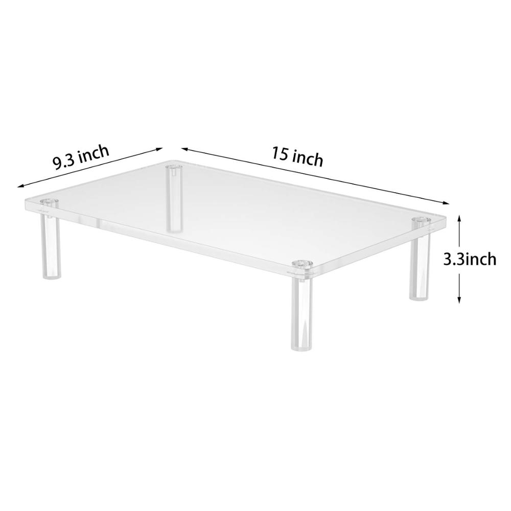 Acrylic Monitor Stand Riser Stable,Fashionable Monitor Stand Perfect For Computer Monitor Laptop IMac Printer TV Screen