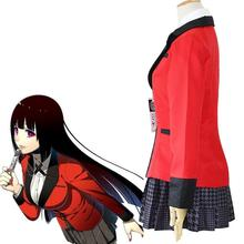 Anime Kakegurui Cosplay Costume Women School Uniforms Halloween Jabami Yumeko Cosplay Costume 7pcs Full Set School Uniform