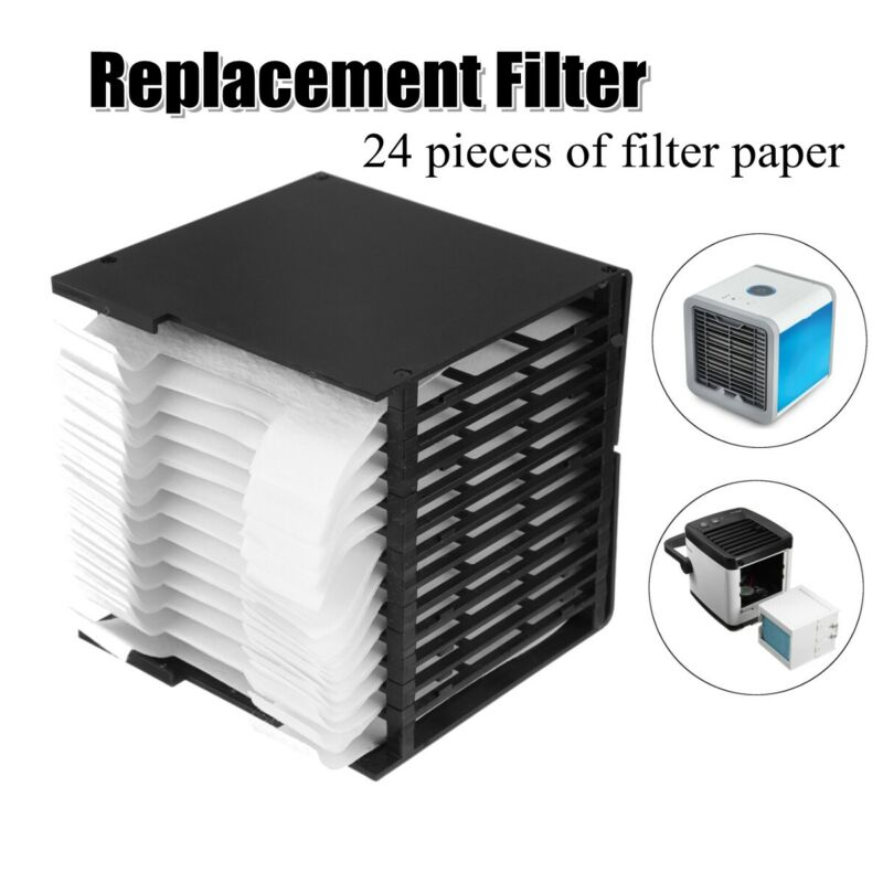 24PCS Portable Arctic Air Cooler Filter Replacement While Evaporative Quick Easy Way New Cool Replacement Filter