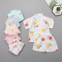 Zestawy ubrań dla niemowląt lato dla niemowląt chłopcy dziewczęta ubrania dla niemowląt bawełniane dla chłopców topy T-shirt + spodnie stroje dla dzieci zestaw ubrań dla dzieci tanie tanio LEOSOXS COTTON CN (pochodzenie) Cartoon Wokół szyi Piżamy Unisex Krótki REGULAR 9M-4T home Pasuje prawda na wymiar weź swój normalny rozmiar