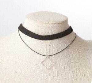 Модное ювелирное изделие Ретро круглое ожерелье с подвеской простое Двухслойное комбинированное ожерелье треугольник геометрическое оже...
