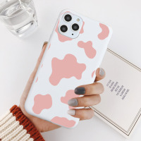 White Pink Cow Symbol Pattern Print Phone Cover for IPhone X XS XR MAX 11 PRO Max 6 6S Cute Cover Case for Iphoen 7 8 PLUS Case