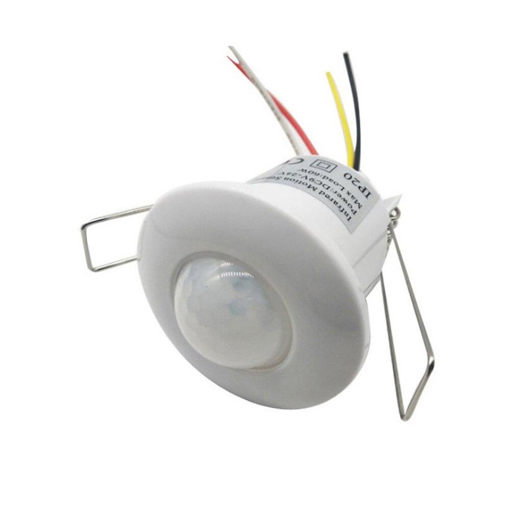 Sensor de movimiento PIR de techo con cable Mini 12VDC serie Downlight, detector infrarrojo integrado para lámpara de 220V, control de alarma de seguridad Luz LED de noche con Sensor de movimiento PIR, lámpara LED de noche, iluminación de techo, lámparas de techo para sala de estar