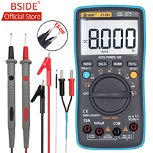 BSIDE ZT301 ZT302 Digital Multimeter 8000 9999 Counts True RMS Multifunction AC/DC Voltage Temperature Capacitance Tester DMM
