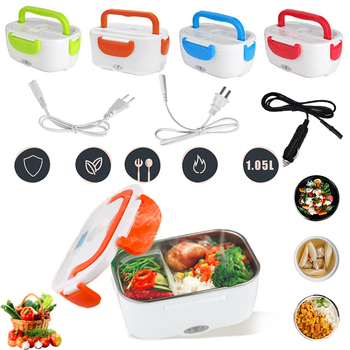 220V/110V Lunch Box Food Container Portable Electric Heating Food Warmer Heater Rice Container Dinnerware Sets for Home Car image
