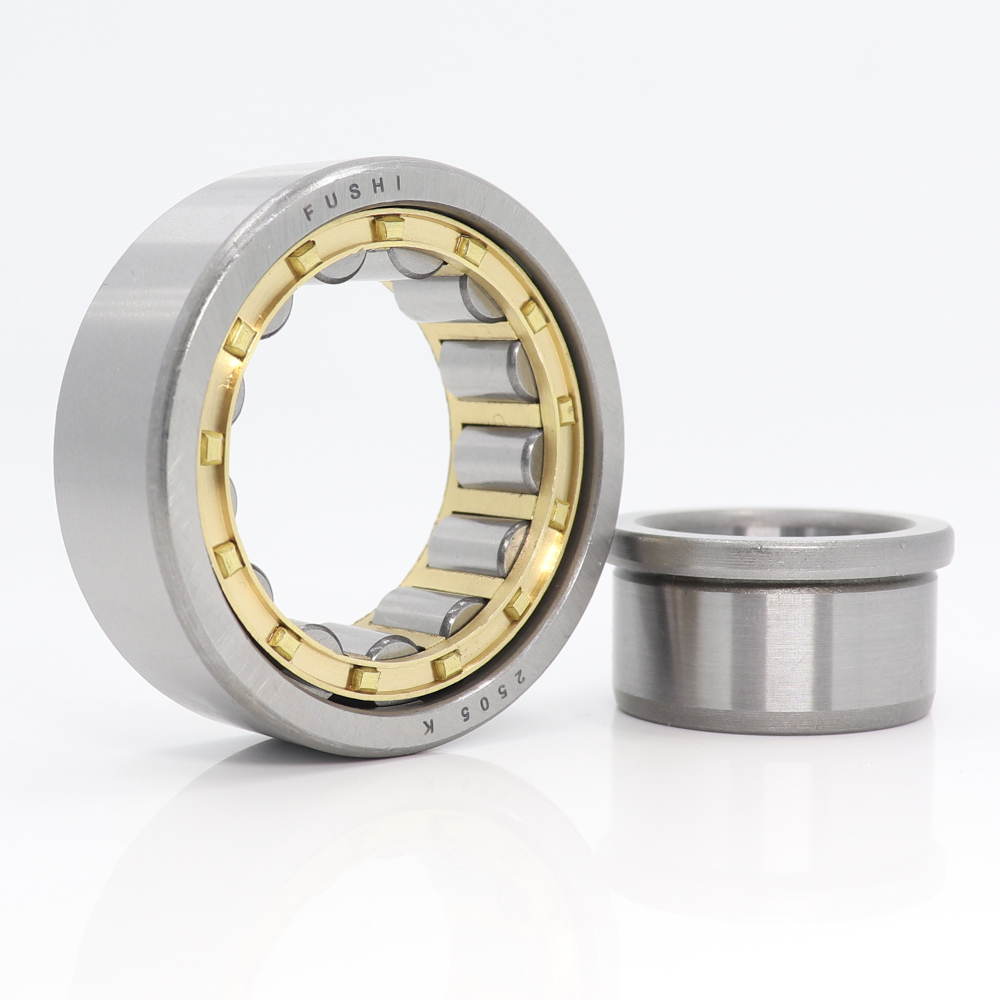 NJ2205EM 25*52*18 Mm Cylindrical Roller Bearings Single Row Machined Brass Cage NJ2205 2505K For Motorcycles IJ Planet 5 Sport