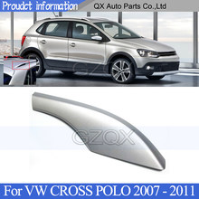 CAPQX bagażnik dachowy osłona srebrny dla VW CROSS POLO 2007 2008 2009 2010 2011 bagażnik pokrywa