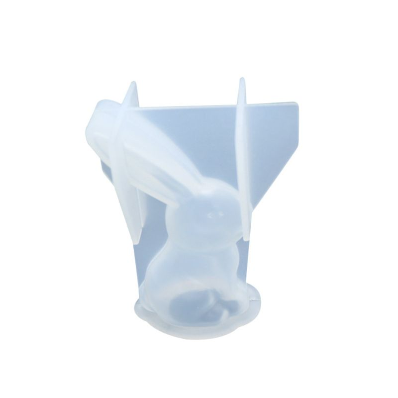 DIY Crystal Epoxy Molds Big Ear Rabbit Shape Silicone Mold Pendant Making Mould