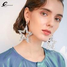 Luxury big star earrings pendientes corazon aretes de mujer