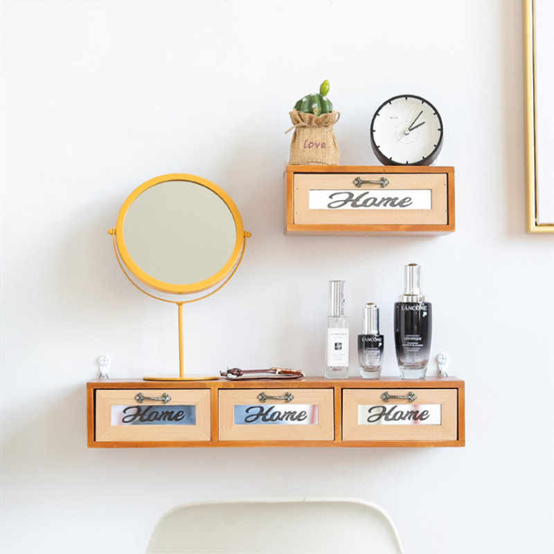 Wooden Desktop Storage Drawers Bedroom