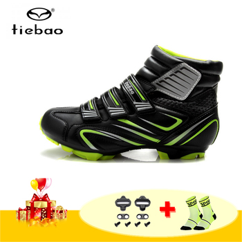 TIEBAO winter mountain bike shoes men women sapatilha ciclismo mtb self-locking bicycle sneakers breathable outdoor cycling shoe