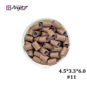 Image 3 - Wholesale 25000pcs 4.5*3.3mm Silicone Copper Hair Extension  tube beads for micro ring hair extension  hair ring