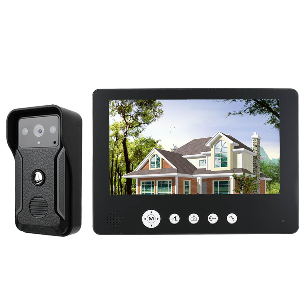 GAMWTER Security 9inch Color Screen Home Video Interphone Doorphone Bell Kits Home Families Door Access Control Intercom Systems