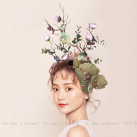2019 Luxury Design Big Forest Flower Hairband Vintage Ladies Costume Show Party Leaves Plant Branches Headband Ladies Headdress