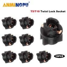 Anmingpu 10x сигнальная лампа t5 led Поворотный разъем pc74