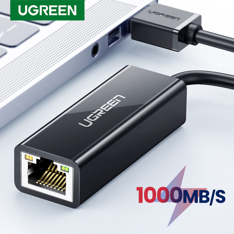 Ugreen USB 3.0 adaptateur Ethernet USB 2.0 carte réseau vers RJ45 Lan pour Windows 10 Xiaomi Mi Box 3/S commutateur Ethernet USB