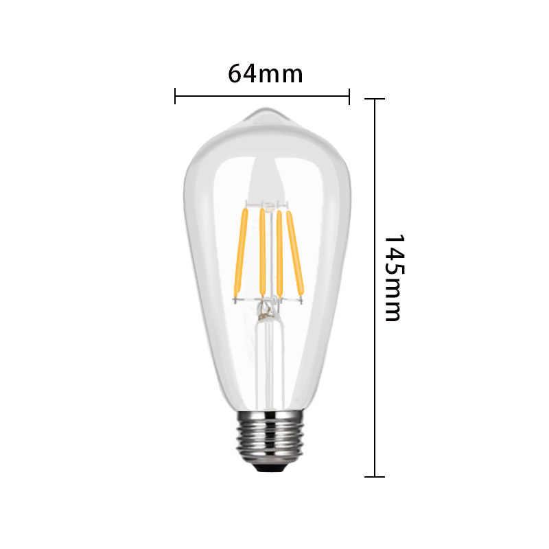 LED لمبة مصابيح C35L C35 G45 A60 ST64 التيار المتناوب 220 فولت E14 E27 قاعدة الديكور غرفة المعيشة الرجعية خمر ديود شمعة خيوط ضوء
