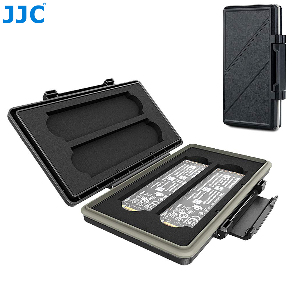 JJC 4 Slots M.2 2280 SSD Protector Case Box Storage Holder For PC Desktop Laptop M.2 2280 Internal Solid State Drive