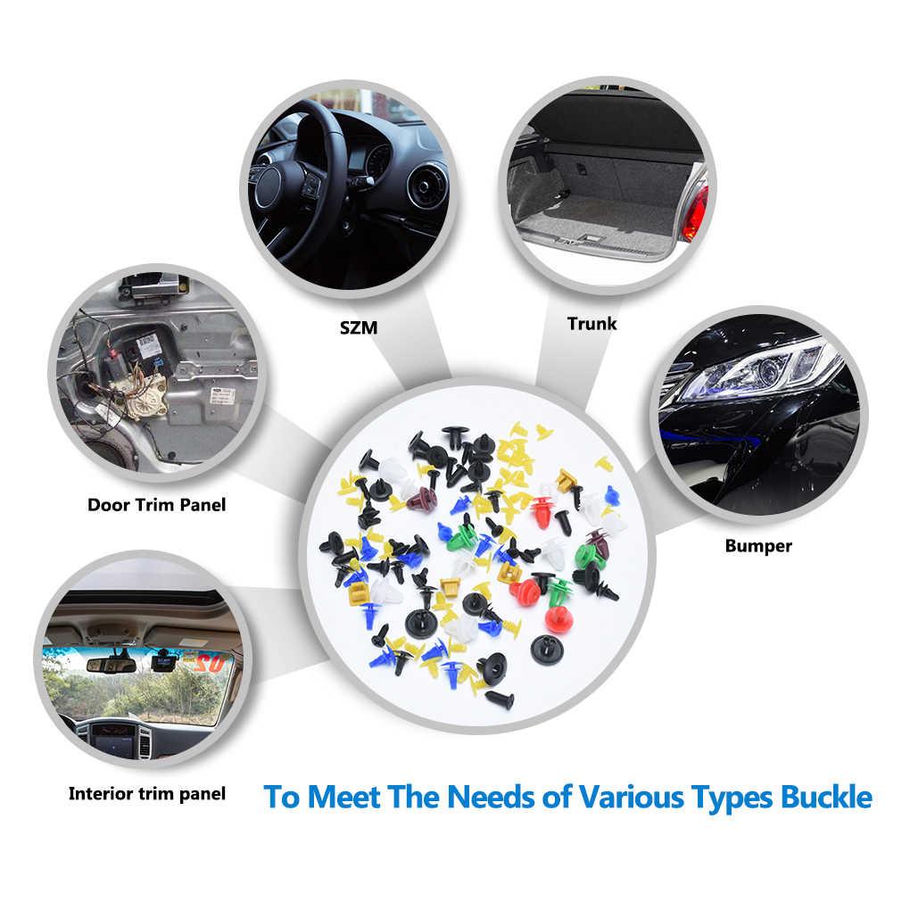 50/100/200PCS מעורב אוטומטי אטב רכב רכב פגוש קליפים מייצבת אטב מסמרה דלת פנל אוניית פגוש יוניברסל Fit עבור רכב