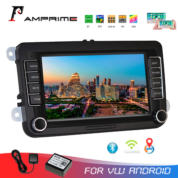AMPrime 7 Android Car Multimedia player 2 din WIFI GPS Navigation Autoradio For Skoda VW Passat B6 Polo Golf 4 5 Touran Seat FM image