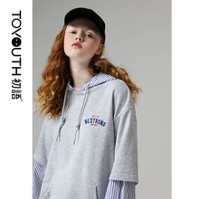 Toyouth Hoodies Sweatshirts Women 2020 Fashion Patchwork Let