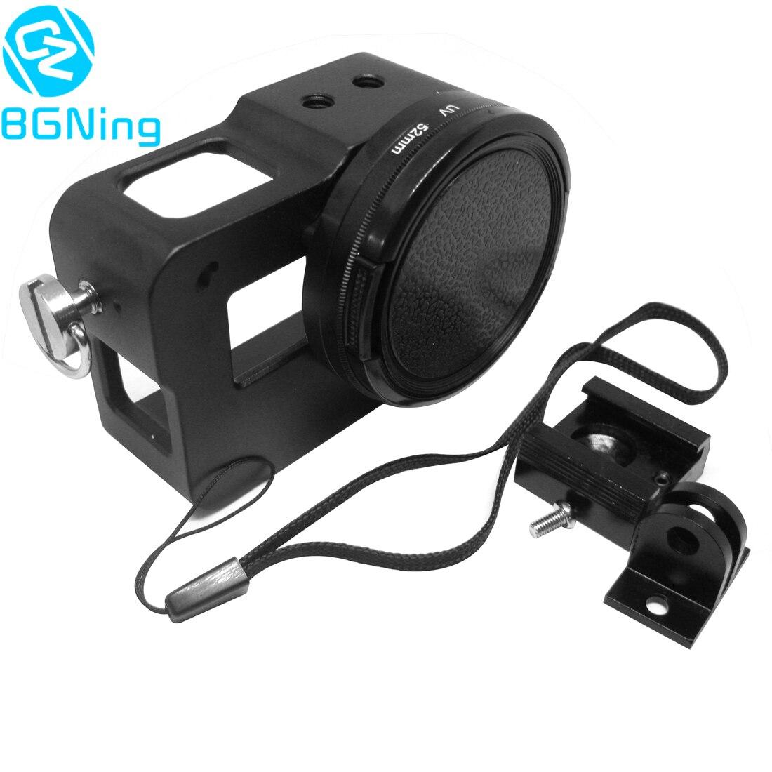 Jaula Protectora Accesorios de aleación de aluminio con cubierta trasera para GoPro Hero 7 6 5
