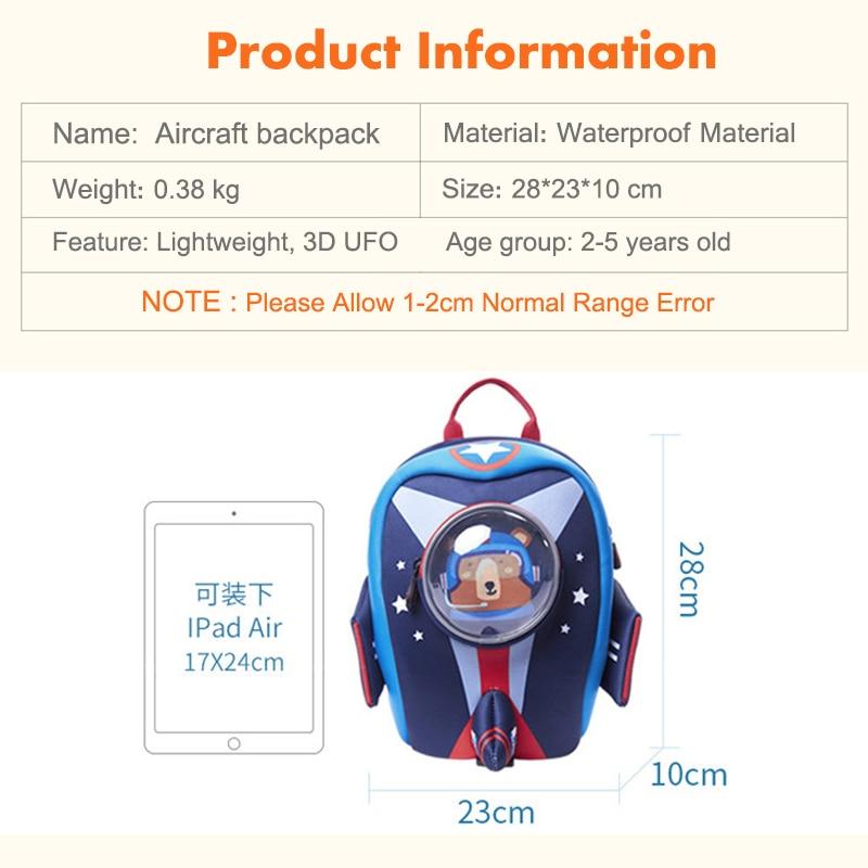 Image 5 - Toddler Backpack with Safety Harness Leash Kids Rocket Backpack  for Boys Girls,Waterproof School Bag for Preschool KindergartenSchool  Bags