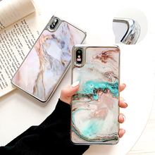 2019 Hot sale Marble Case For iPhone XR XS Max 6 6S 7 8 Plus X Soft IMD Anti-knock Edge Half-Wrapped Back Cover phone