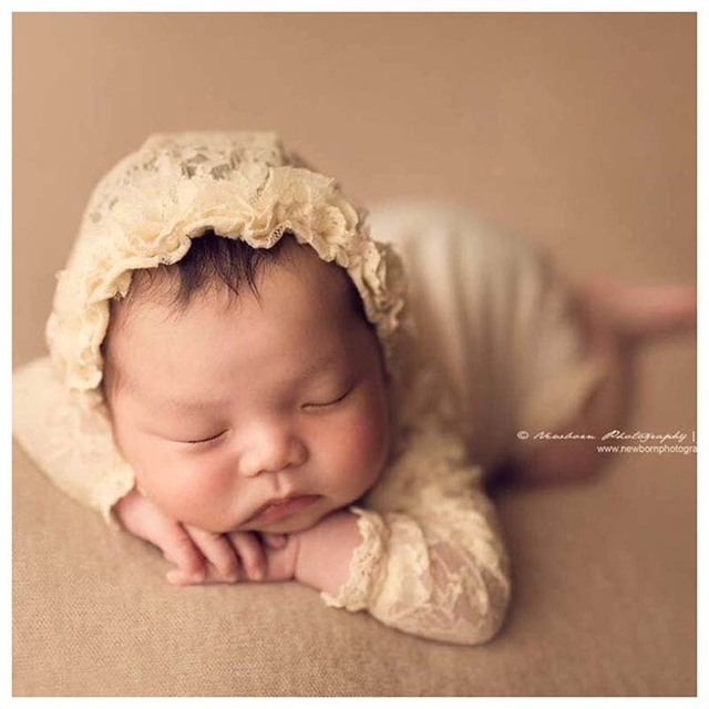0-3Months Baby Photo Costume Infant Princess lace cap jumpsuit Newborn Baby Photography Props Girl Theme Studio Accessories 2