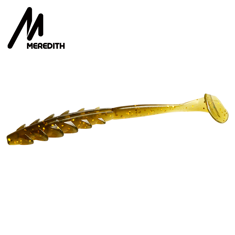 MEREDITH 20pcs Crazy Shiner II 65mm 1.54g Soft Lure Fishing Lure Shad Silicone Baits T-tail Wobblers Swimbait Artificial Leurre