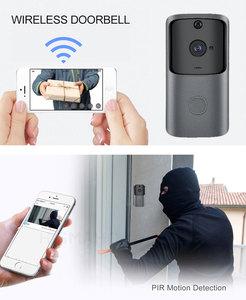 Image 3 - HISMAHO wizjer wbudowaną kamerą wi fi inteligentny wideo z domu domofon dzwonek do drzwi, bezprzewodowy pilot zdalnego dzwonek do drzwi baterii aparatu 720P HD Night Vision