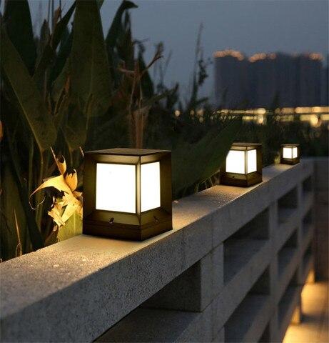 cerca do jardim ao ar livre iluminacao