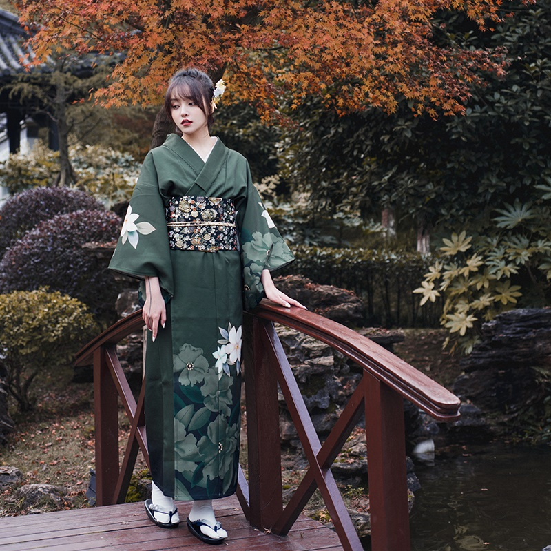 Kimono Yukata Women Japanese Traditional Dress Kimonos Costume Geisha Japanese Cosplay Female Obi Japanese Kimono Yukata FF2603