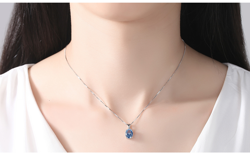 H94748e62e6d048e09ebe8682438b86a4c CZCITY Sky Blue Topaz Stone Pendant 2.3 Carat Oval Shape Solitaire Natural Topaz 925 Sterling Silver Chain Necklace for Women
