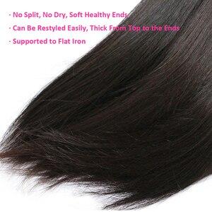 Image 5 - Cexxy 12Aミンクの毛未処理のバージン少女人間織りバージンヘアストレートブラジル髪織りバンドルナチュラルカラー