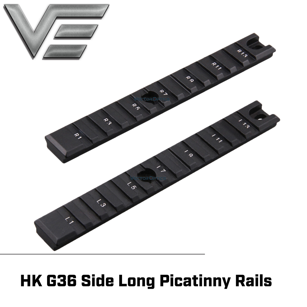 Vector Optics Tactical Side Long Picatinny <font><b>Rails</b></font> One Pair Fit HK <font><b>G36</b></font> Accessories image
