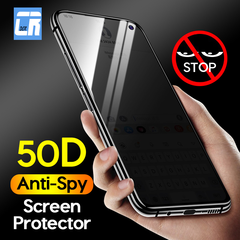 50D Full Anti Spy Protective Glass For Samsung S10E A51 A71 A91 S10 Lite A10E A20E A7 2018 A50 A40 A20 Privacy Screen Protector