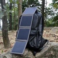 ¡Cargador de Panel Solar portátil 14W Dual USB cargador de batería Solar para iPhone 6 7 8 Plus X Xr Xs Max 11 12 Pro Max Samsung Huawei!