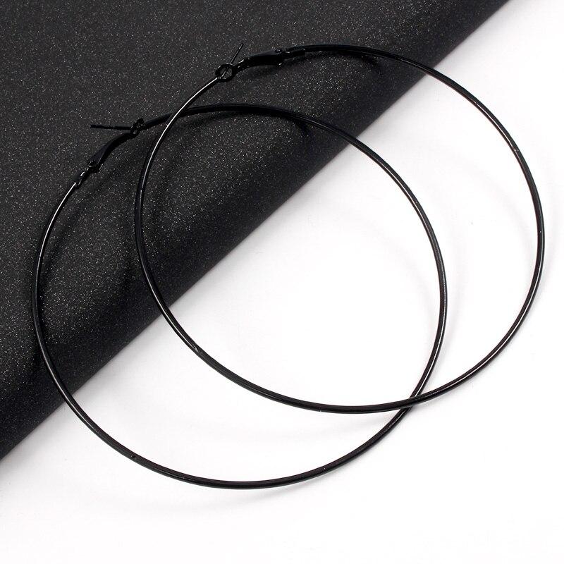 BLIJERY Exaggerated 12CM Oversized Hoop Earrings Basketball Brincos Smooth Big Circle Earrings for Women Punk Jewelry Oorbellen