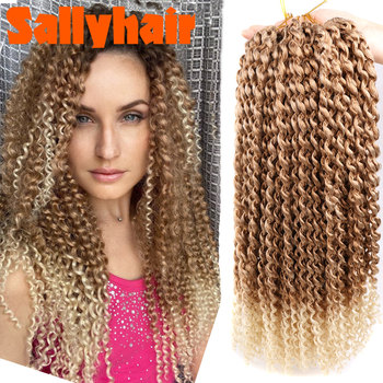 Sallyhair Crochet Braids Ombre Passion Twist Braiding Synthetic Hair Extensions Long  Twists Bulk Blonde Grey Extension - discount item  50% OFF Synthetic Hair