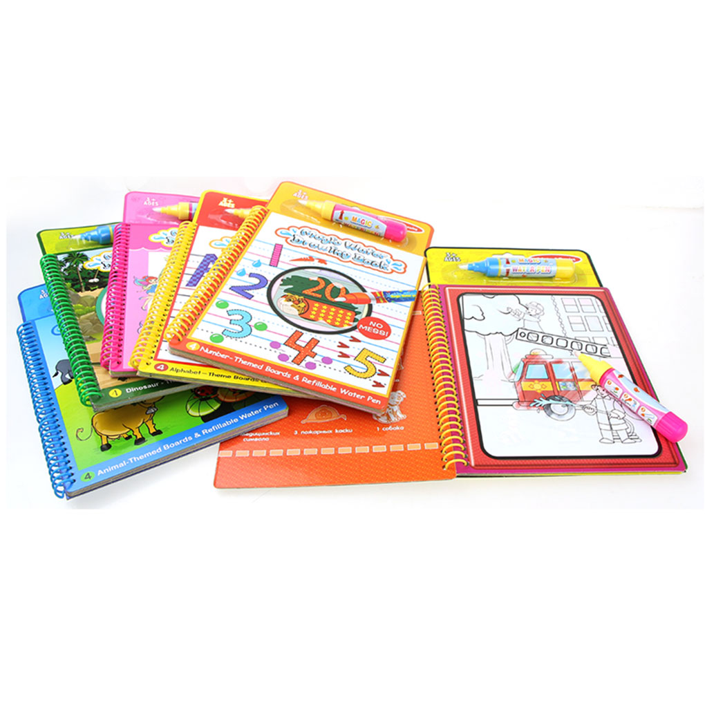Reusable Magic Water Painting Book Cartoon Writing Doodle Children Early Educational Toy Book Coloring Board